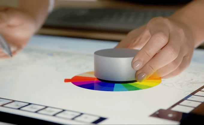 microsoft surface studio and surface dial